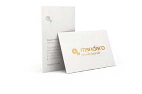 Visitenkarten Mit Abgerundeten Ecken Und Folie Mandaro